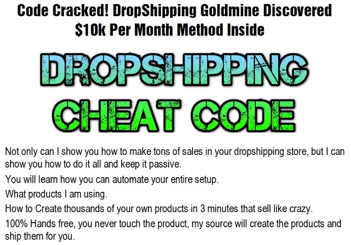 Dropshipping Cheat Code