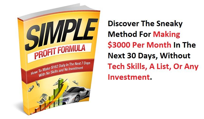 Simple Profit Formula