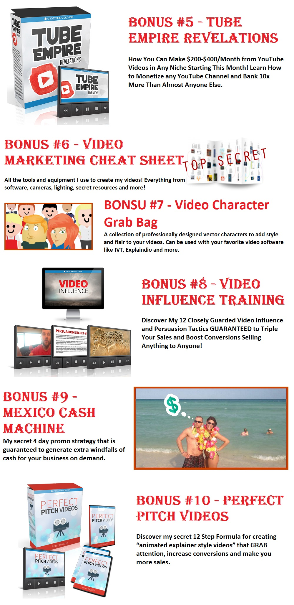 Video Bookmarker Sepcial Bonuses