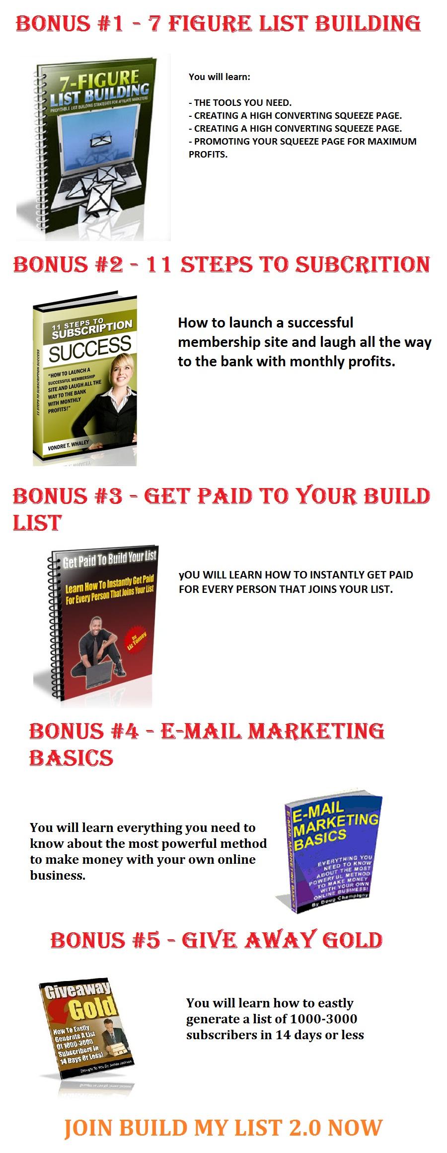 Build My List 2.0 Bonus