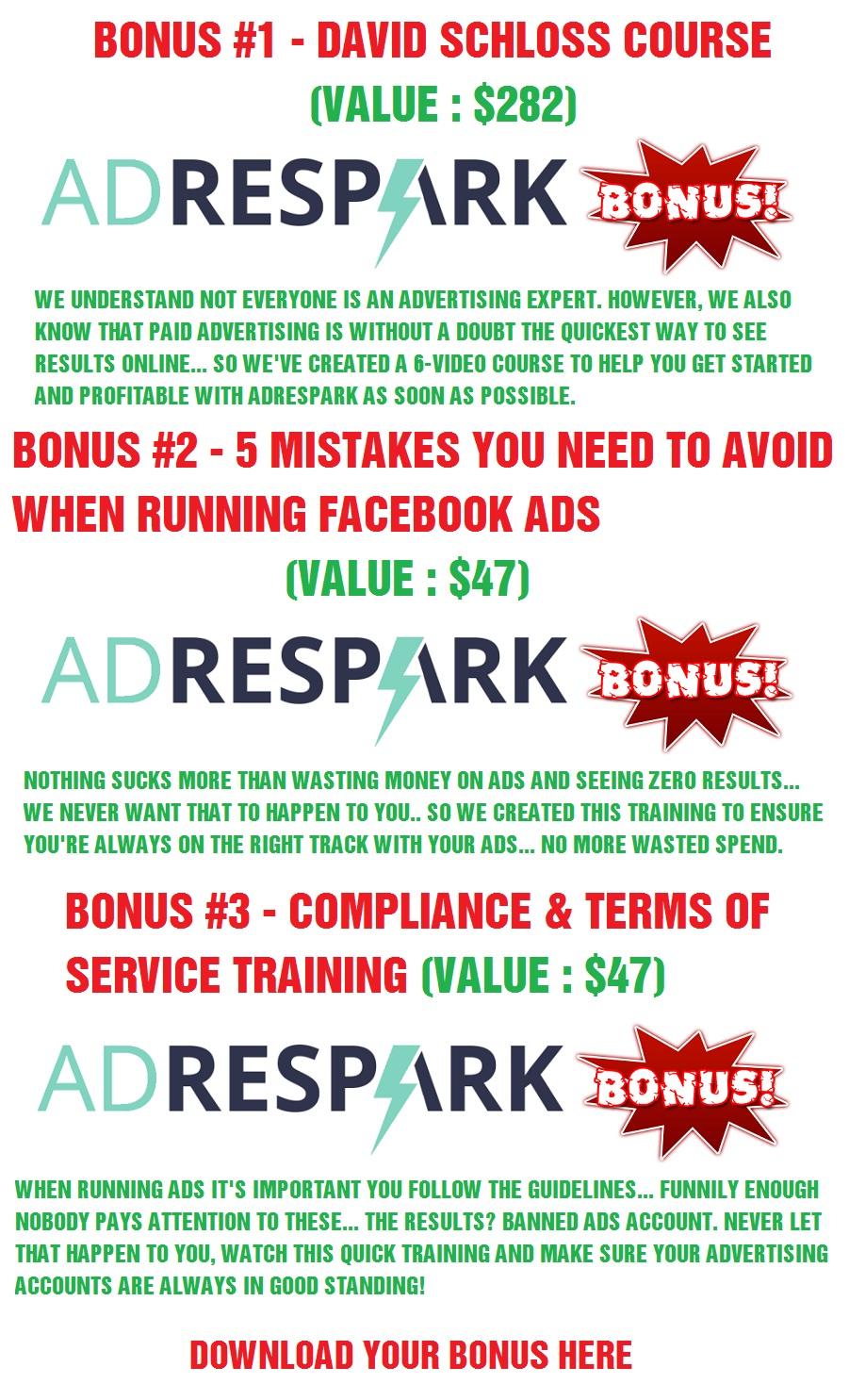 AdRespark Bonus