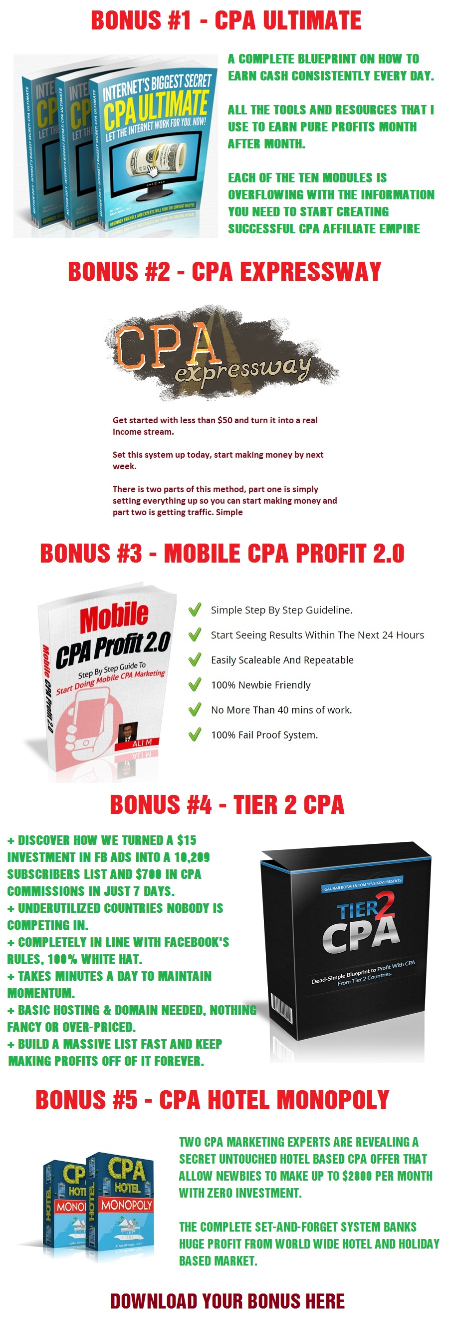 CPA Masters Academy Bonus