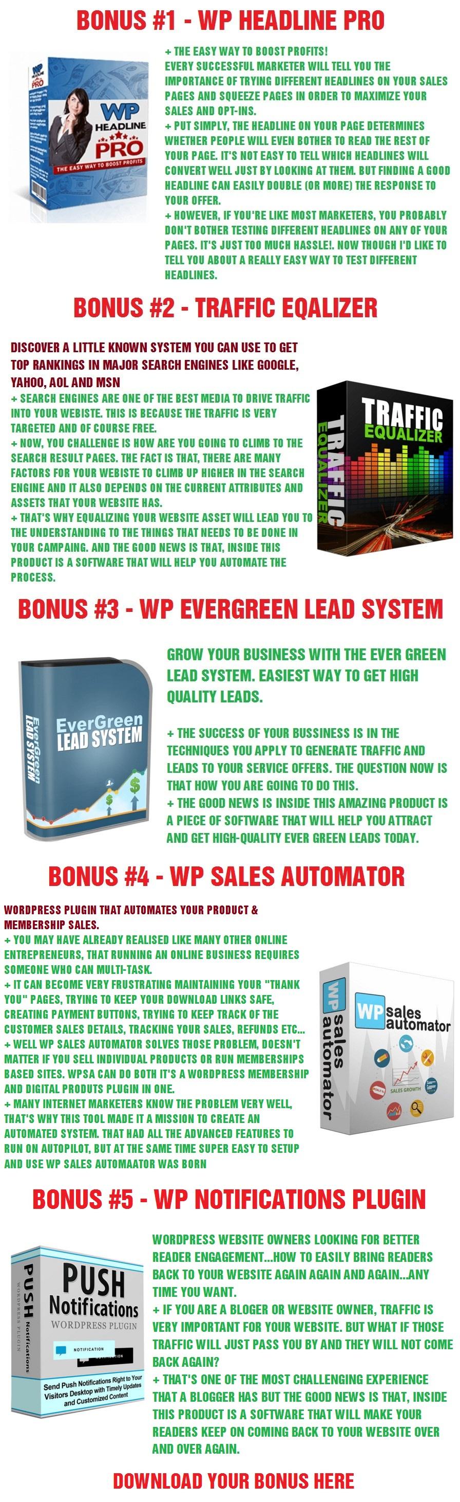 Link Cloaker 2.0 Bonuses