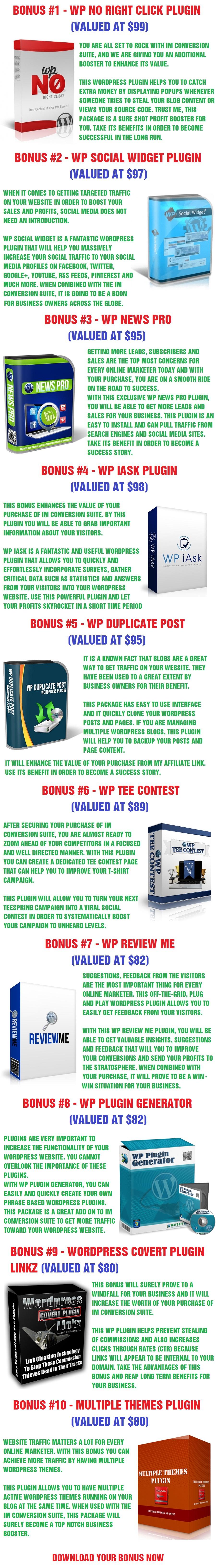 IM Conversion Bonus