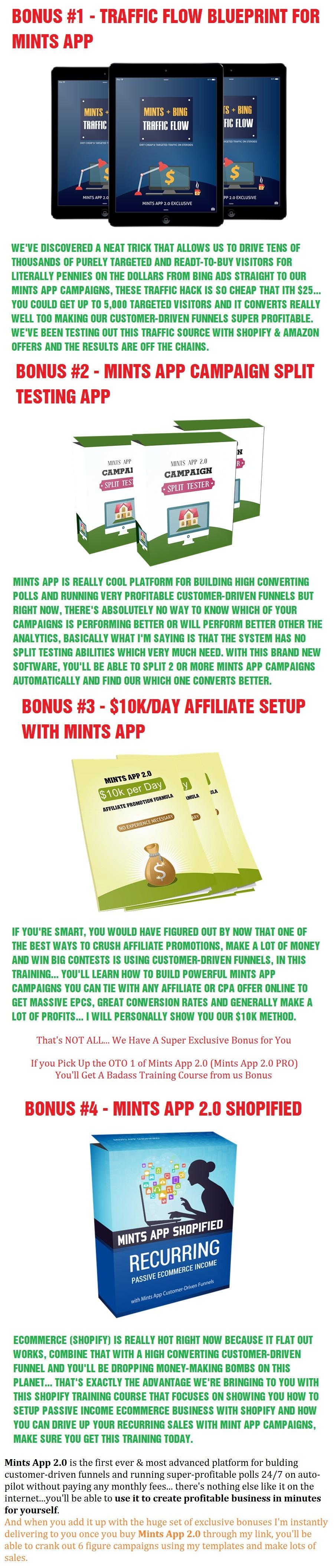 Mints App 2.0 Bonus