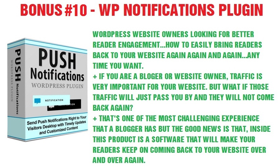 WP Notifications Plugin