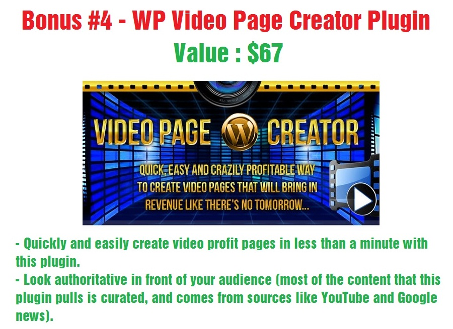WP Video Page Creator Plugin