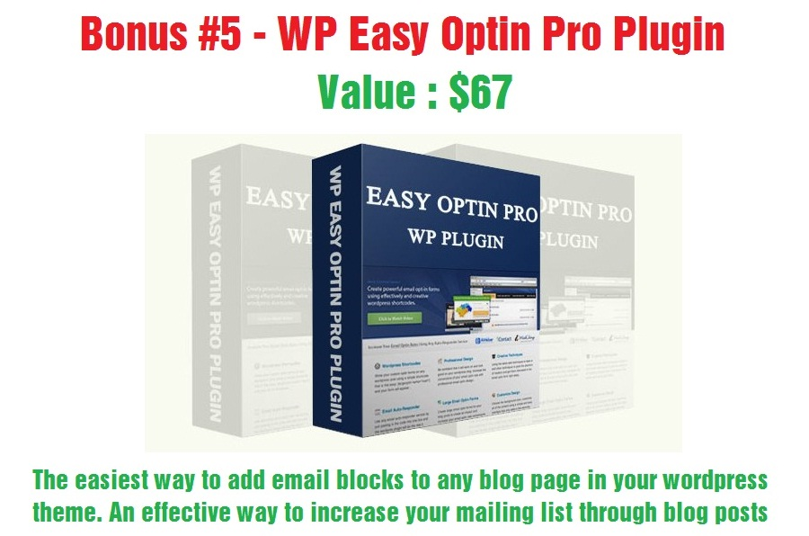 WP Easy Optin Pro Plugin