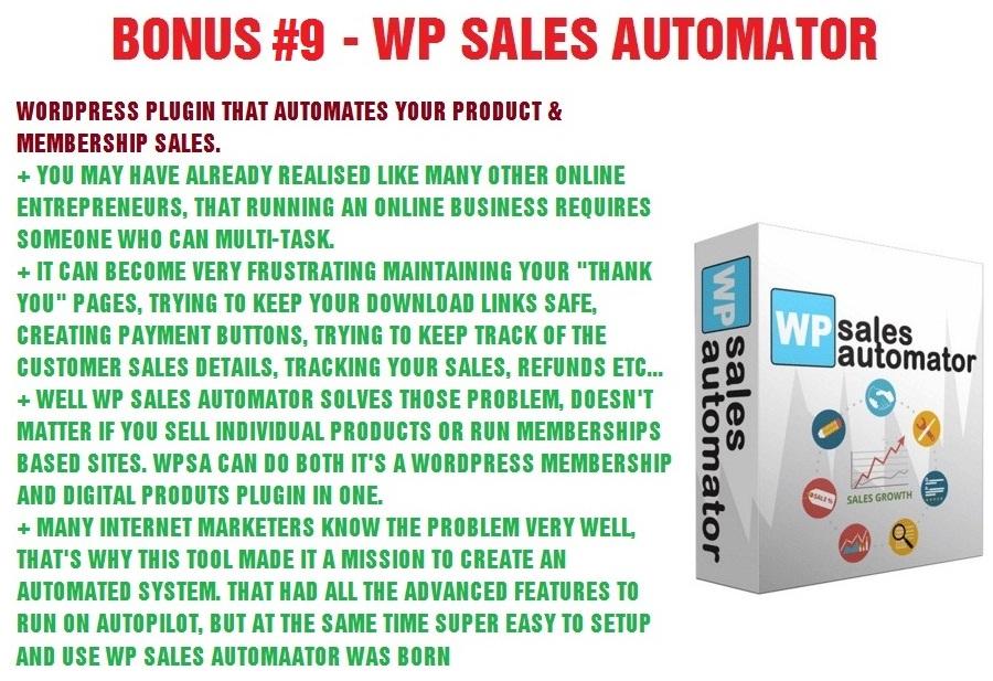 WP Sales Automator