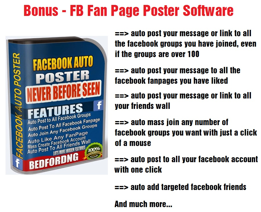 FB Fan Page Poster Software