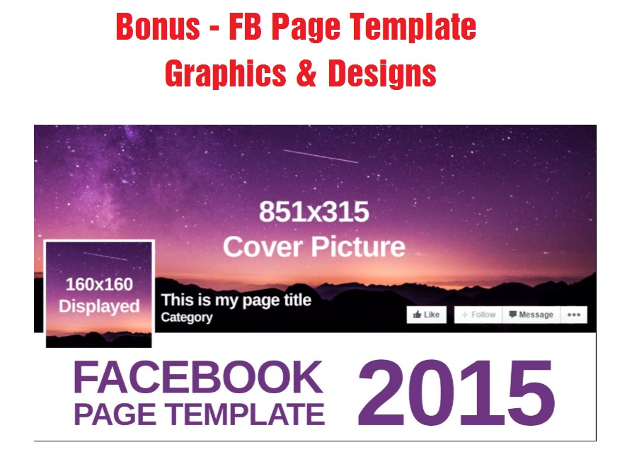 FB Page Template Graphics & Designs