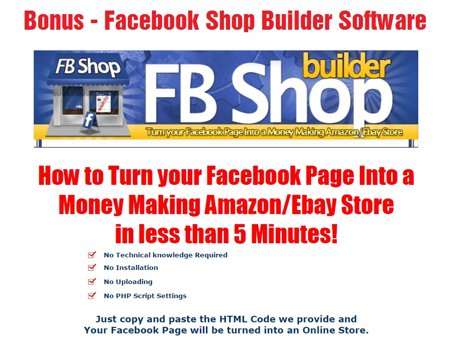 Facebook Shop Builder Software