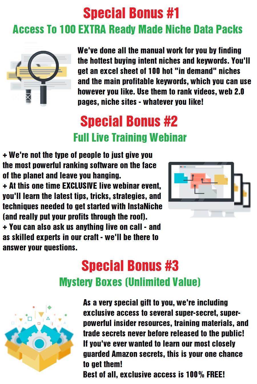 InstaNiche Special Bonus