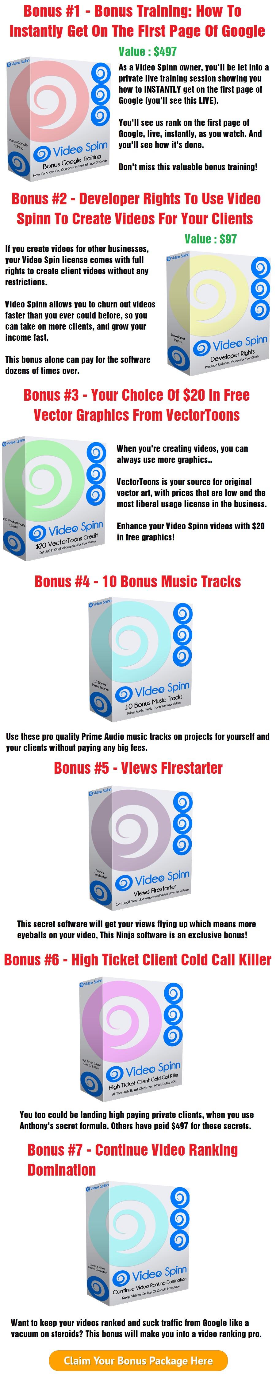 Video Spinn Bonus
