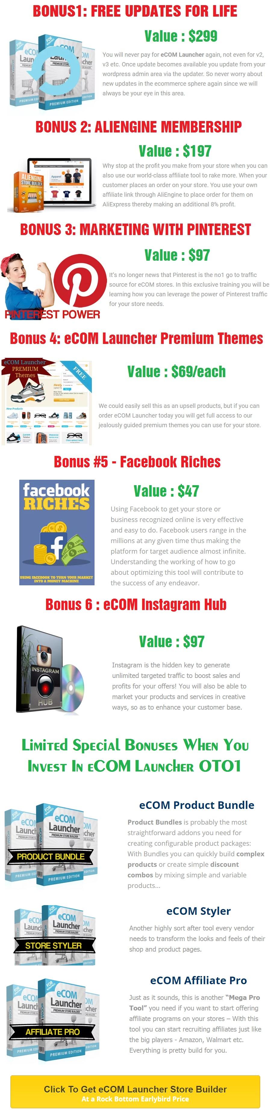 eCom Launcher Bonus