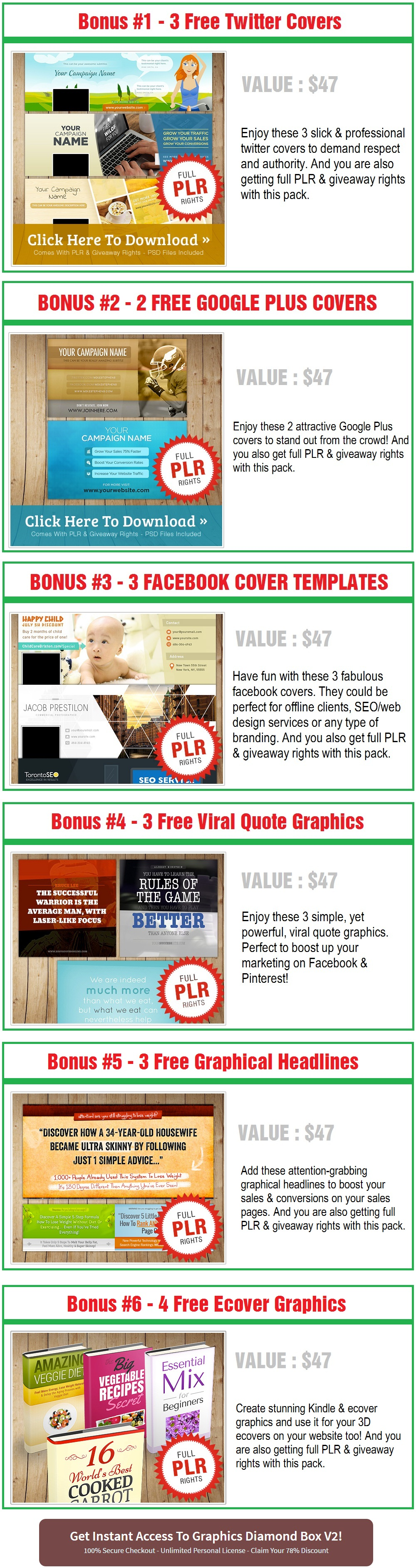 Graphics Diamond Box Bonus
