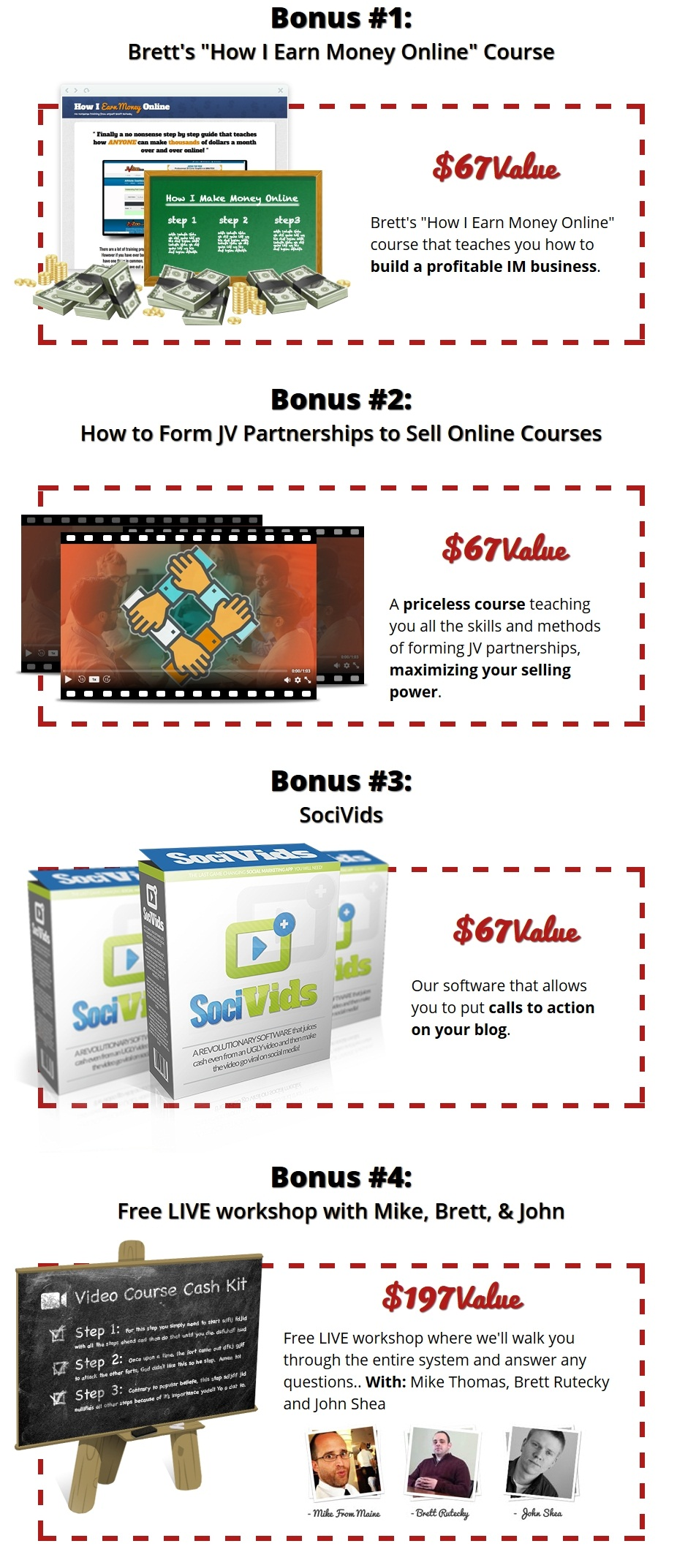 Video Course Cash Kit Bonus