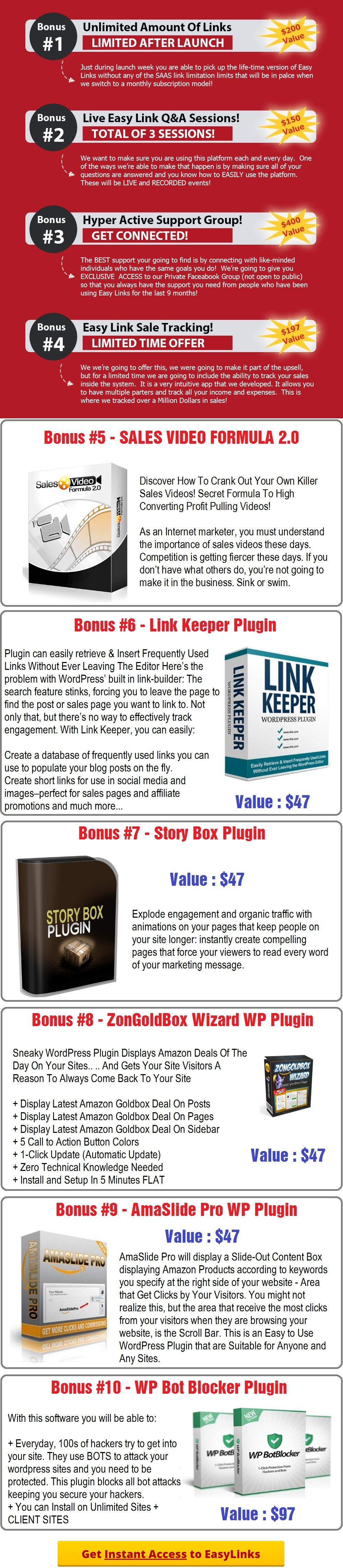 EasyLinks Bonus