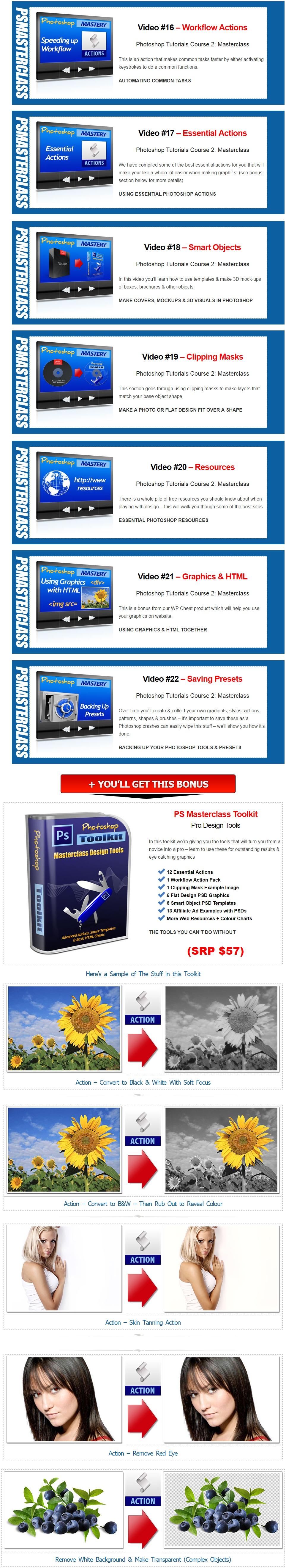 PS Masterclass 2016 Course 2