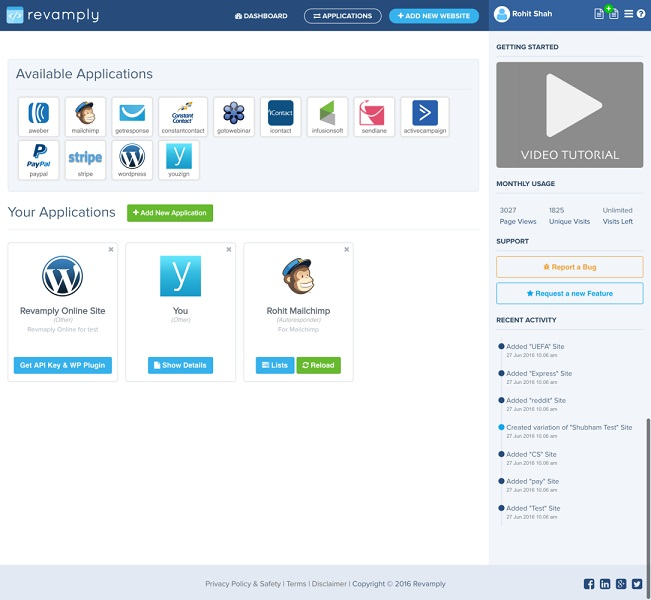 Revamply Integrate App