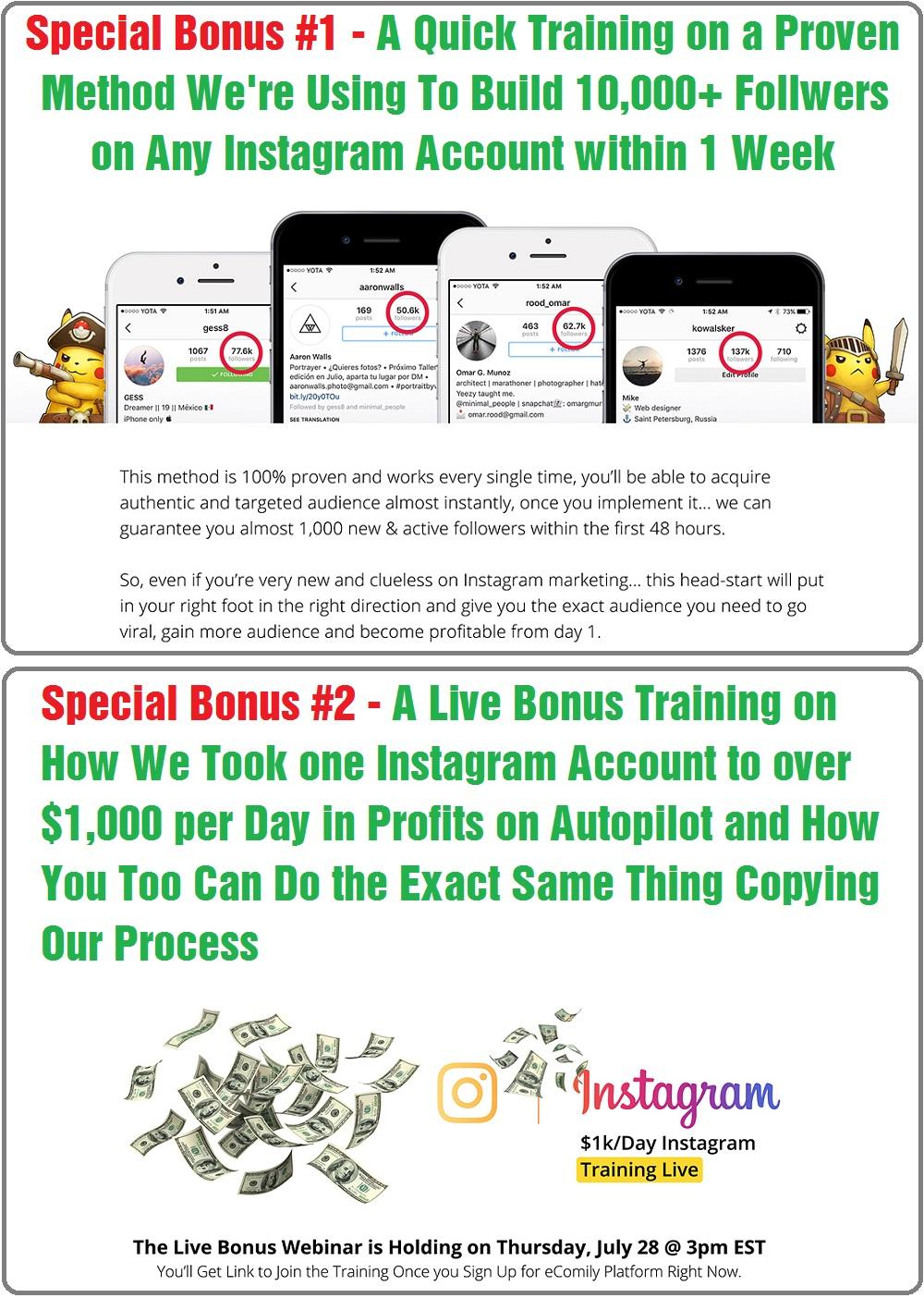 eComily App Special Bonus