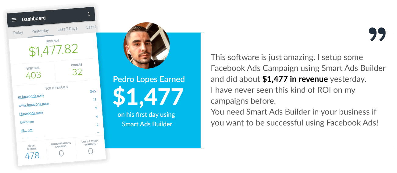 Smart Ads Builder Testimonials