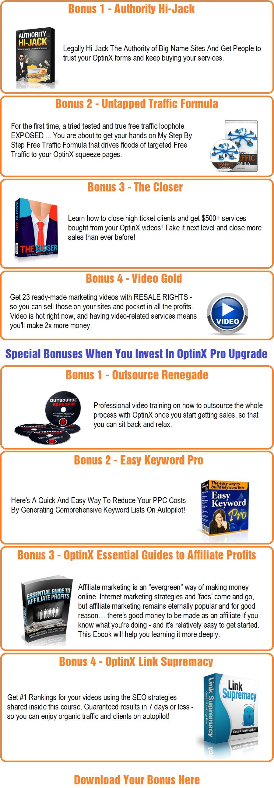 OptinX Bonus