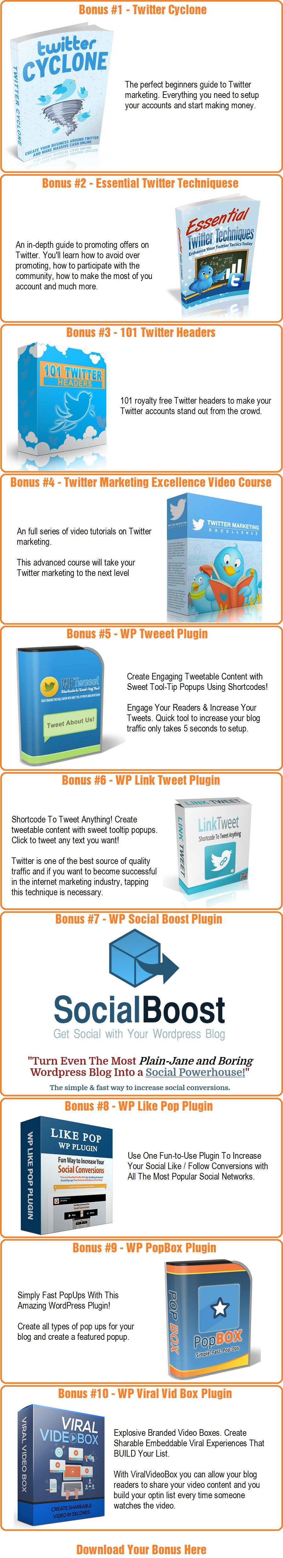WP Tweet Machine v2 Bonus