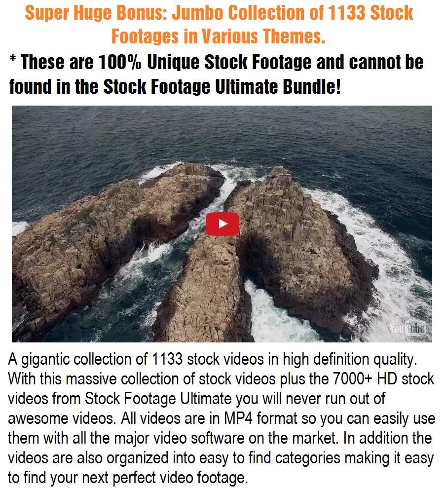Stock Footage Ultimate Bonuses