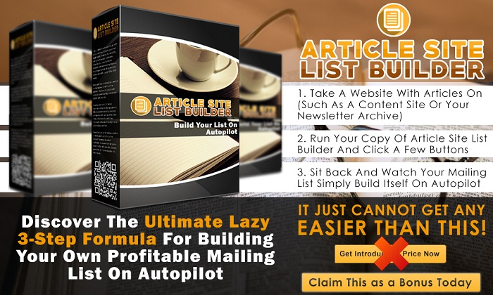 Article Site List Builder