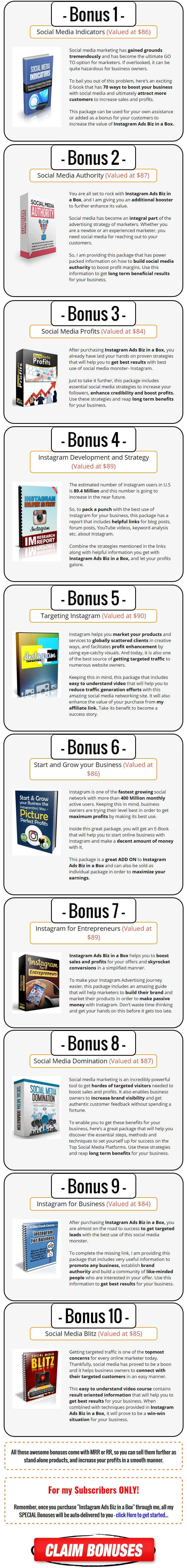 Instagram Ads Biz in a Box Monster PLR Bonus