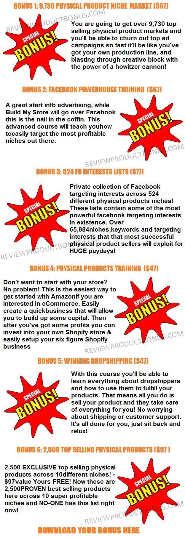 Build My Store Bonus
