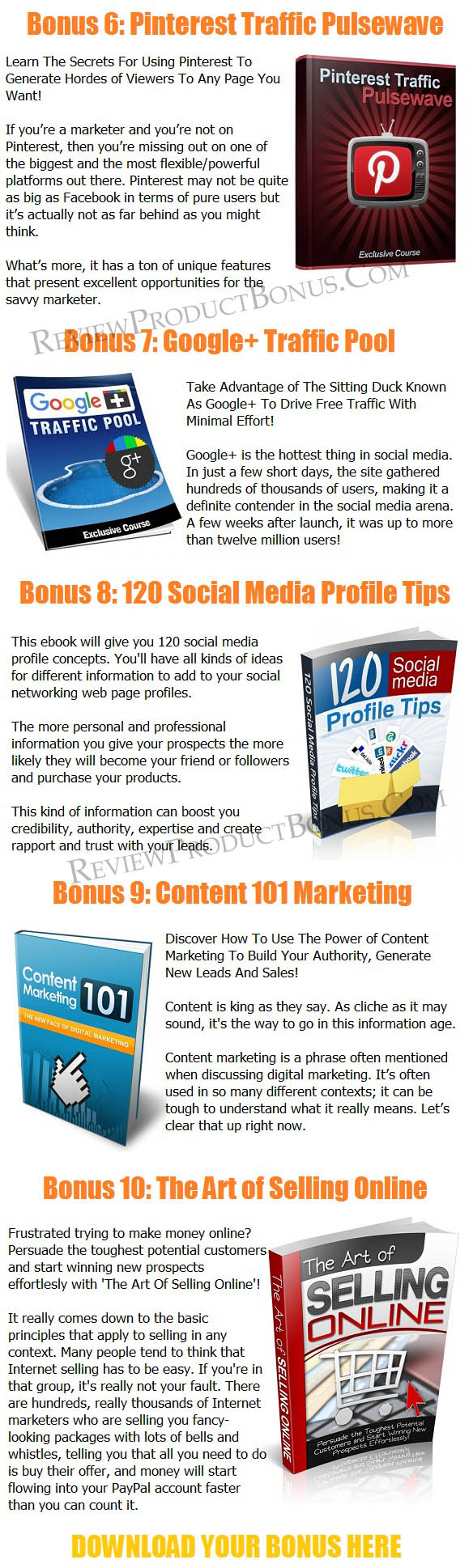Facebook Live Marketing PLR Bonuses