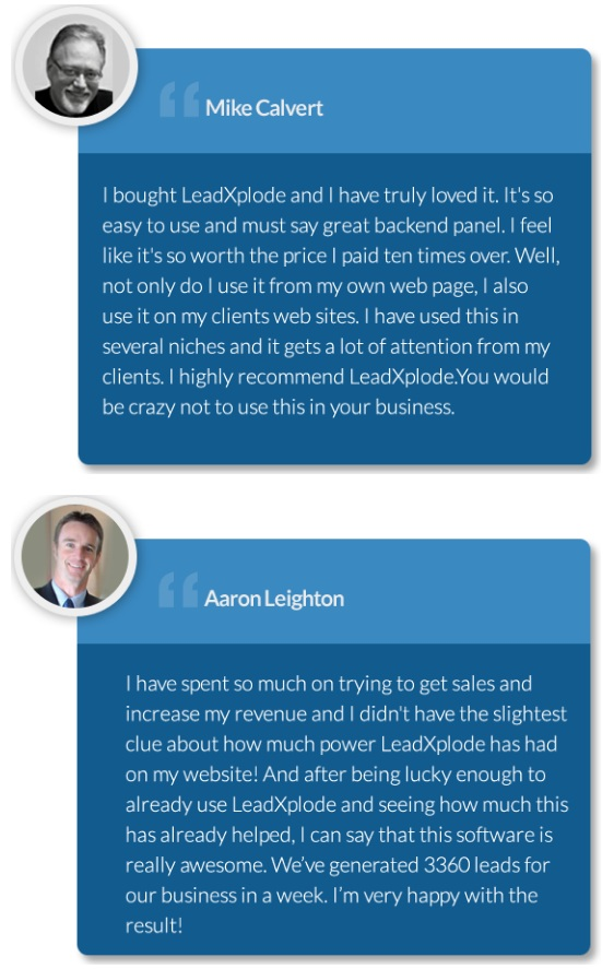 LeadXplode Testimonials and Proof