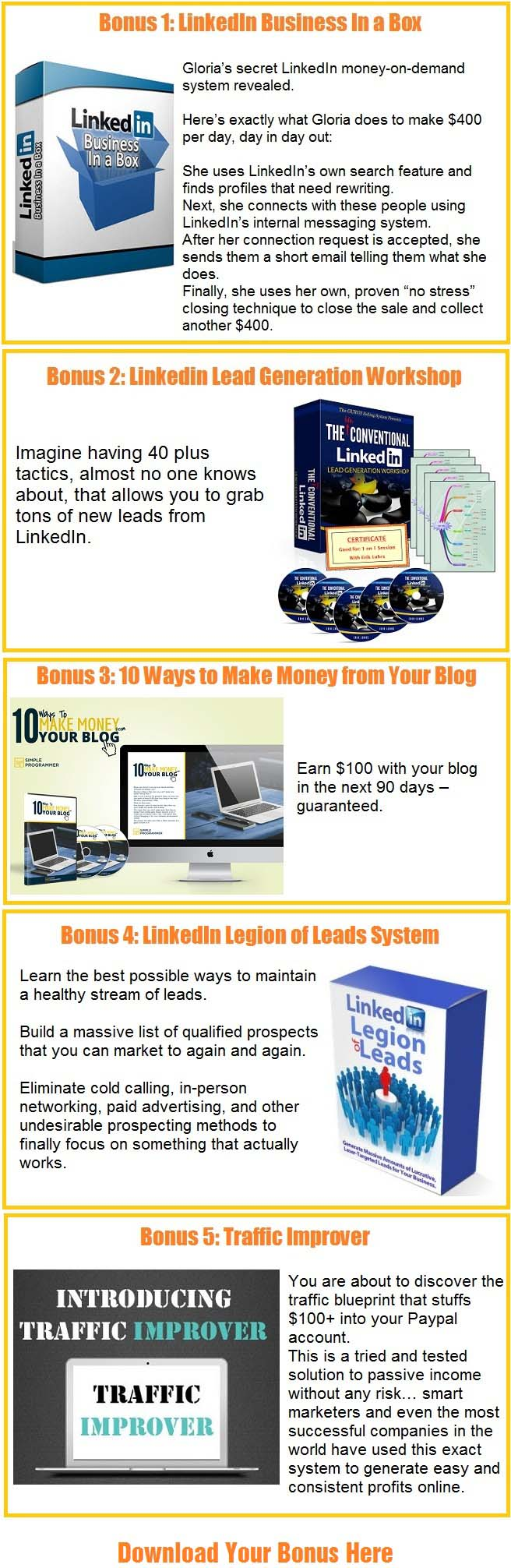 LinkedLoot Bonus