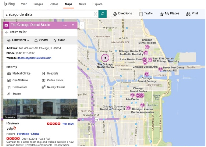 bing-dentist-map-detailed-view