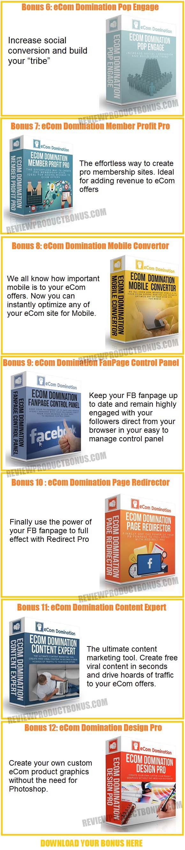 eCom Domination Bonuses