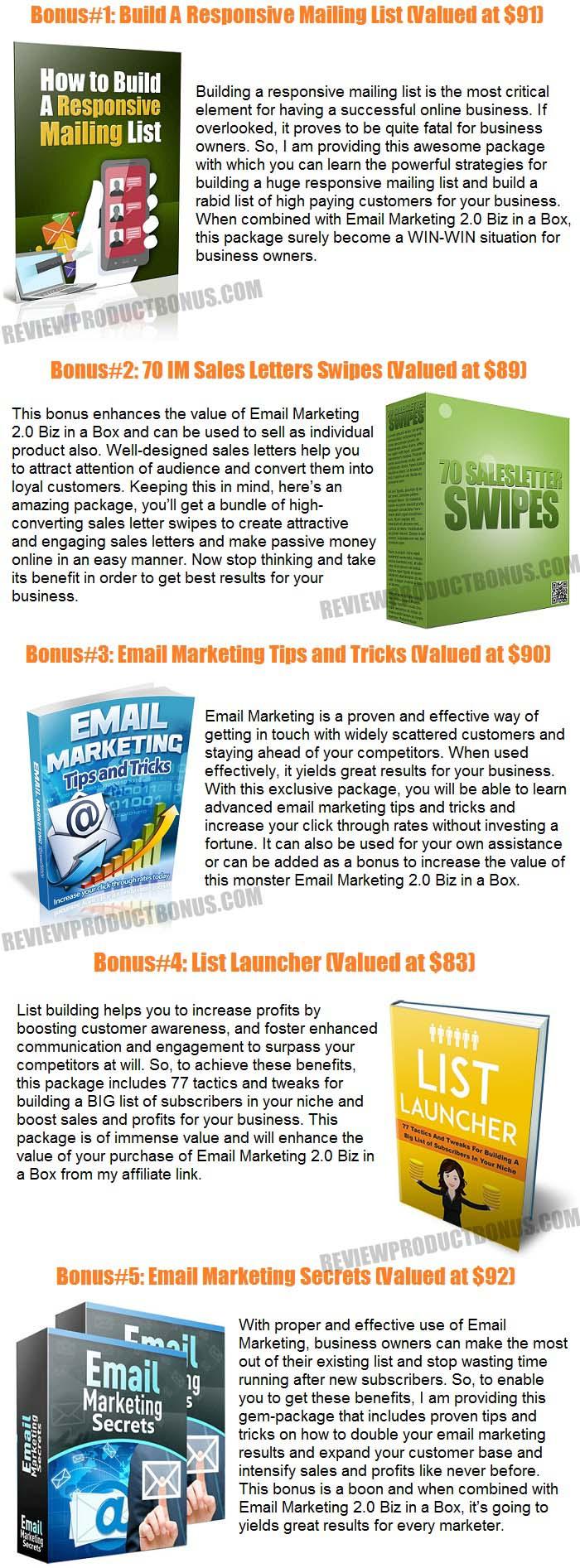 Email Marketing 2.0 Biz in a Box Bonus