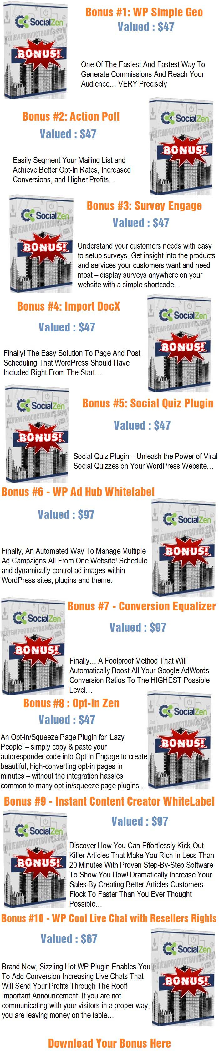 Social zen review fully automated social media awesome for Bonus sociale 2017