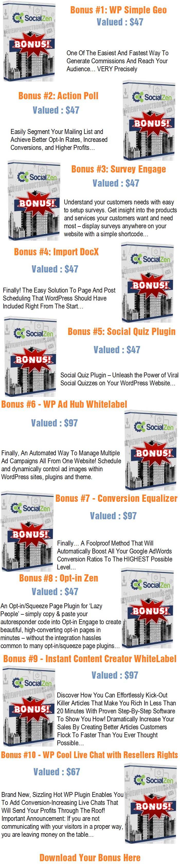 Social Zen Bonus