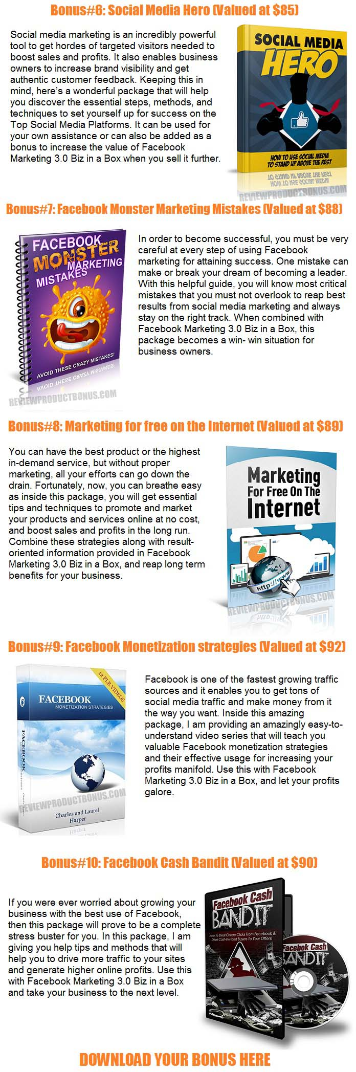 Facebook Marketing 3.0 Bonuses