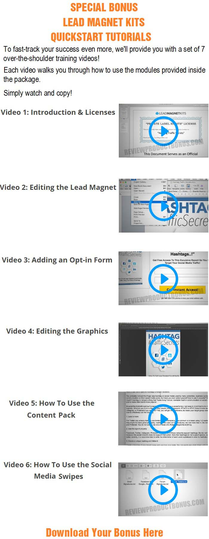 Internet Marketing Kickstart Lead Magnet Kit Bonus