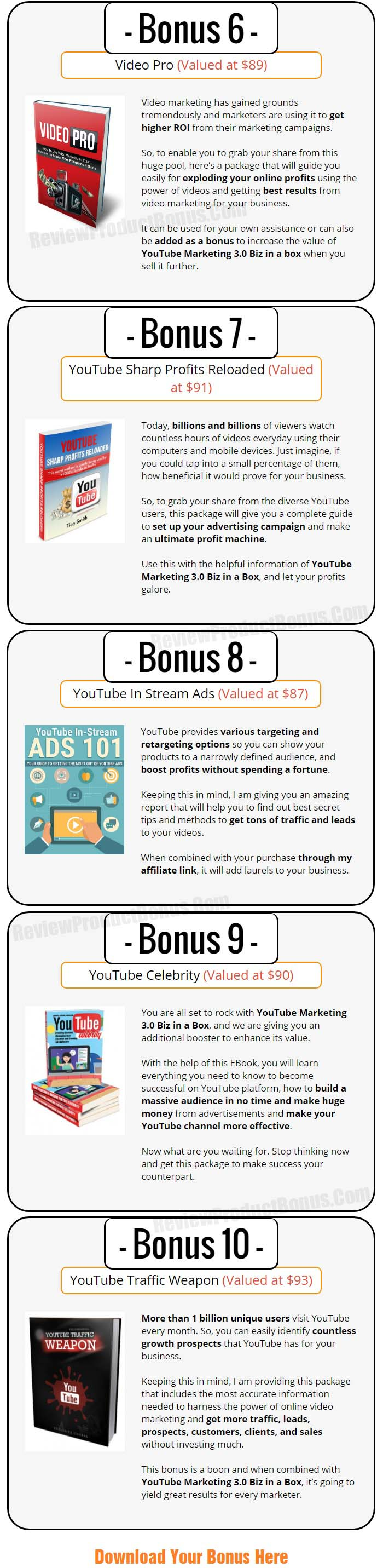 YouTube Marketing 3.0 Bonuses