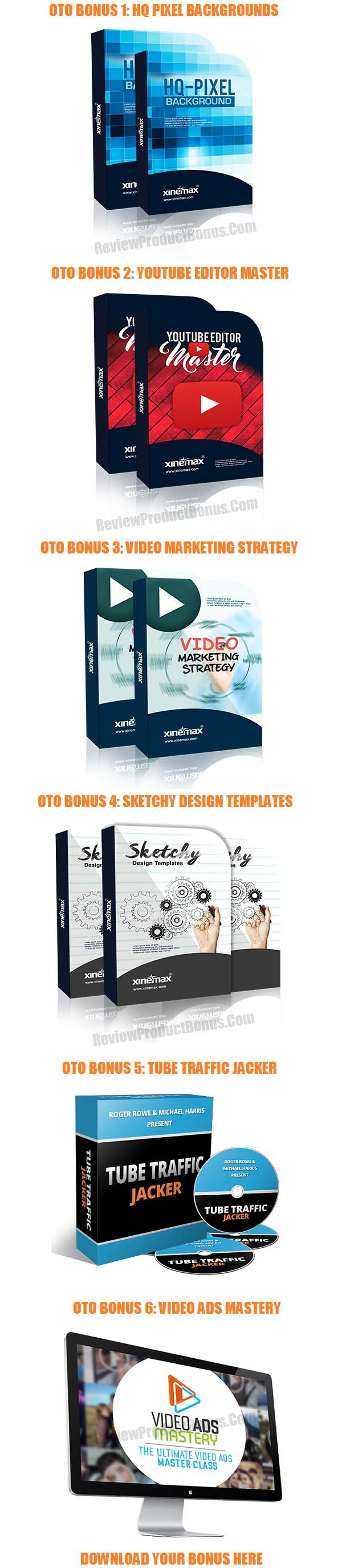 Xinemax Video Templates Bonus OTO