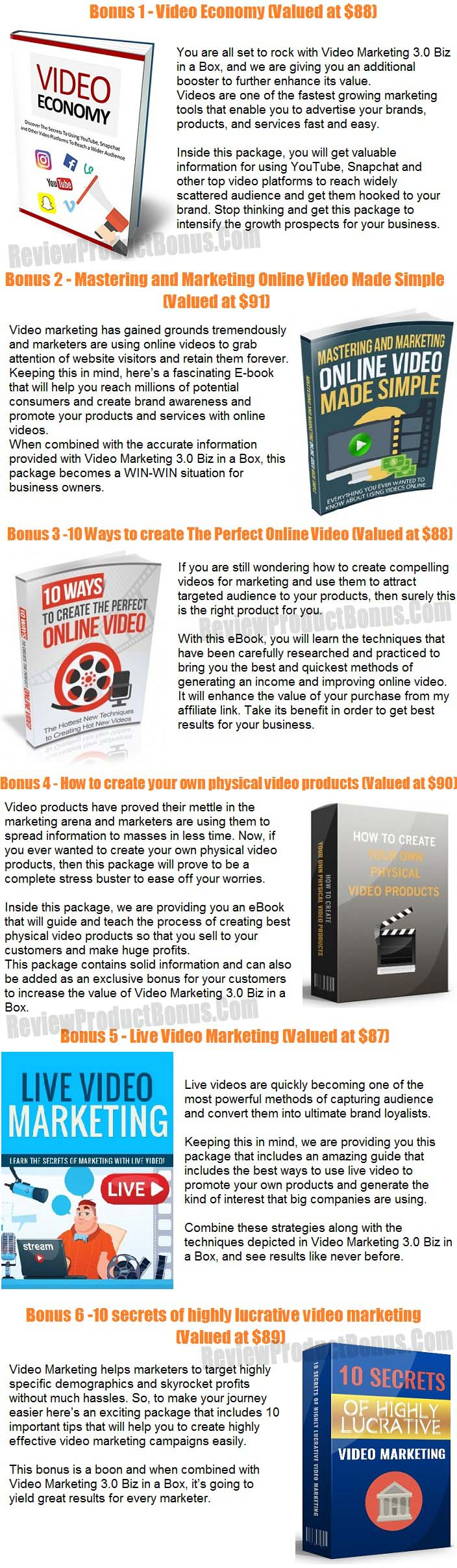 Video Marketing 3.0 Bonus