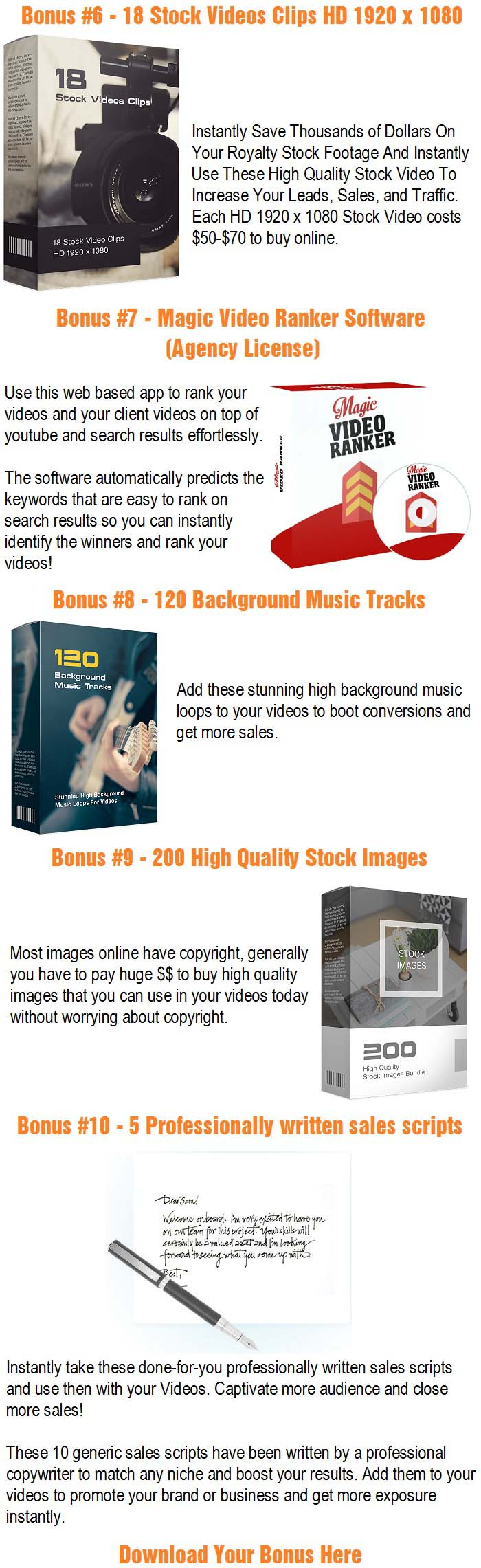 TXTVideo Direct Bonuses
