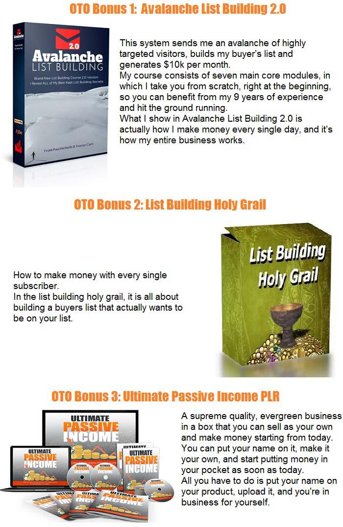 List Building Formula PLR Bonus OTO