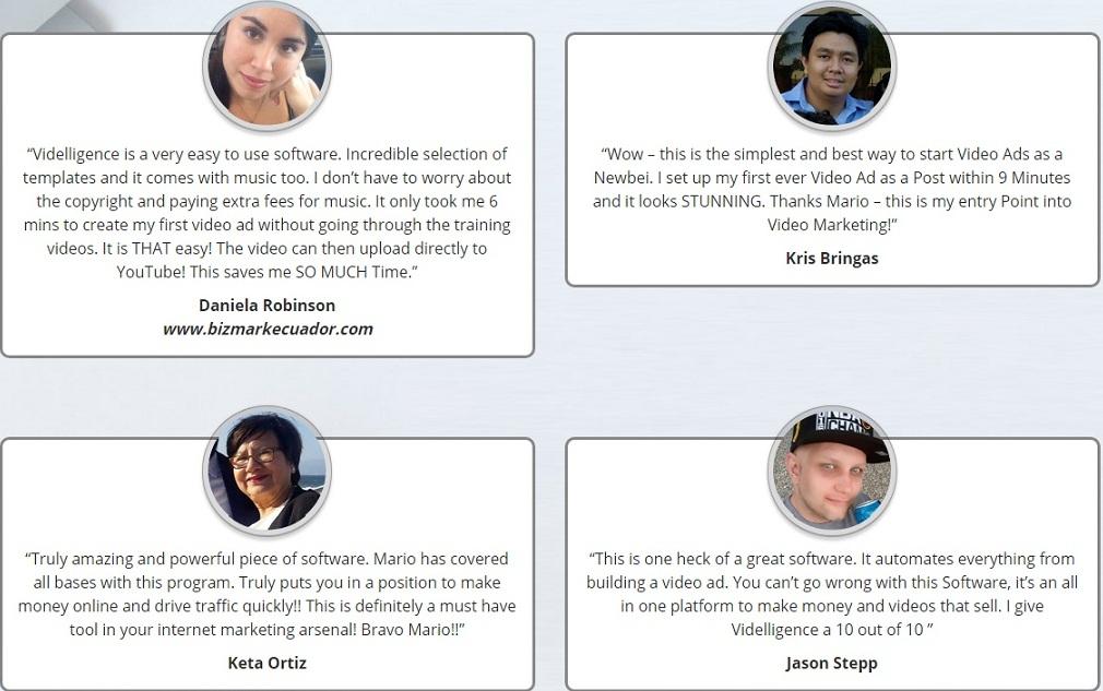 Videlligence Testimonials