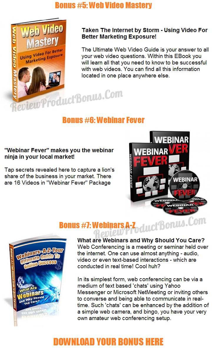 Webinar Mastery Bonuses