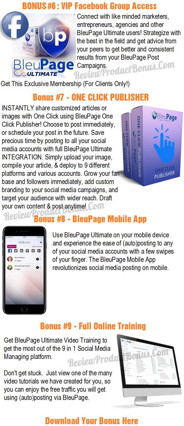 BleuPage Ultimate Bonuses